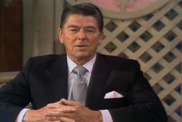 Ronald Reagan Footage from Dinah!