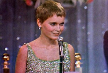 Mia Farrow Footage from The Golden Globe Awards