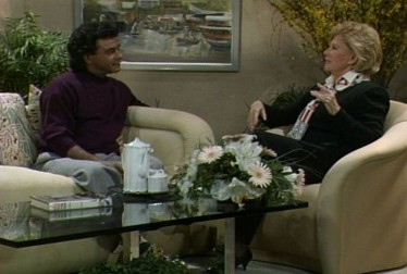 Johnny Mathis with Host Dinah Shore on A Conversation With Dinah Footage