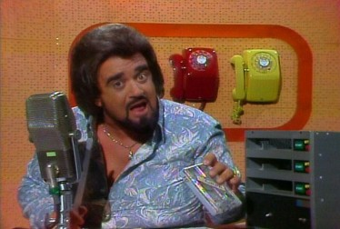 Host Wolfman Jack on Wolfman Jack Show Footage