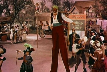 Storybook Character on Stilts Footage from Shirley Temple's Storybook