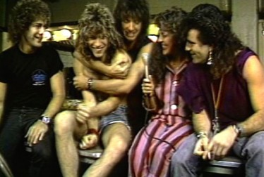 Bon Jovi Footage from Saturday Night At The Video