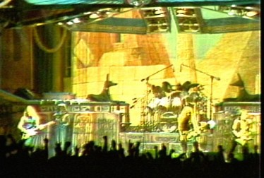 Iron Maiden Footage from Saturday Night At The Video