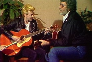 Carl Perkins and Stray Cats Footage from Saturday Night At The Video