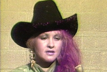 Cindi Lauper Footage from Saturday Night At The Video