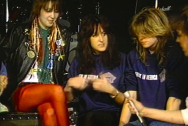Girlschool Footage from Saturday Night At The Video