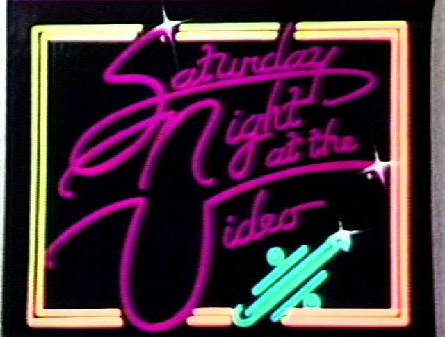 Saturday Night At The Video Logo Footage Library